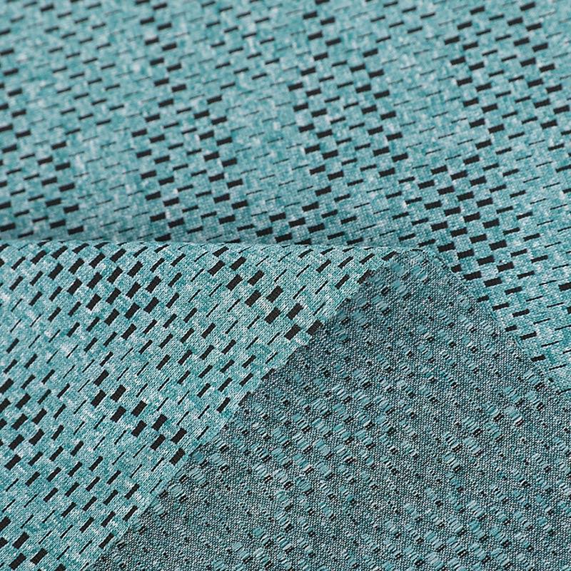 双色提花针织布-机械方格