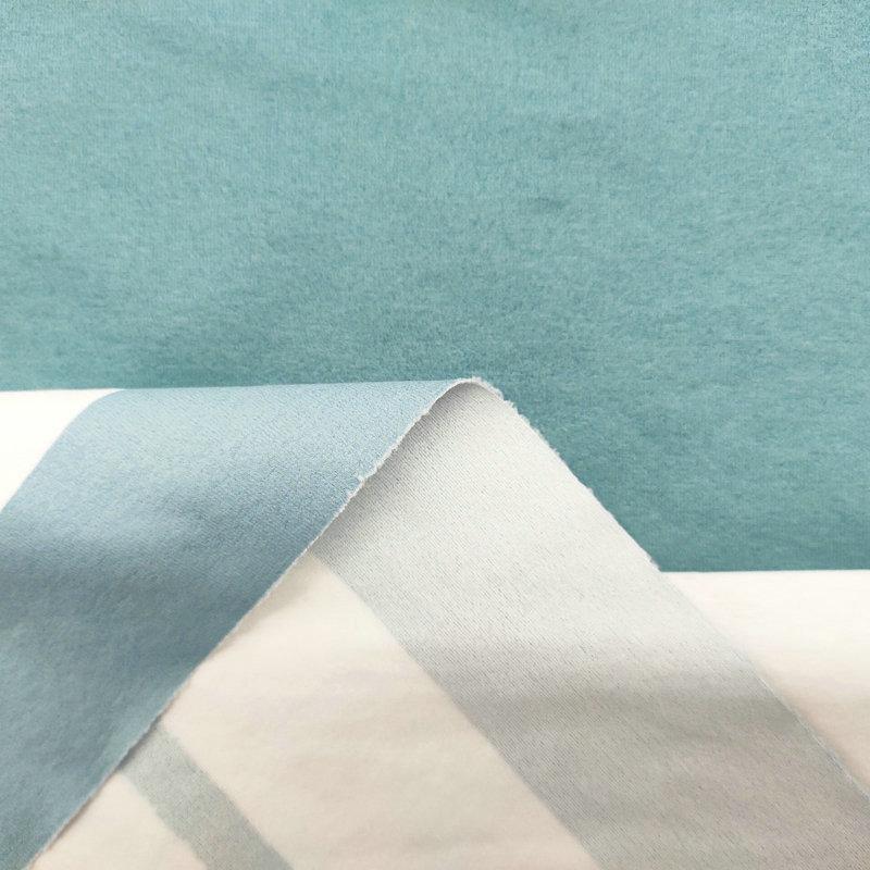 绒感仿棉无氨弹力布1#(光触媒抗菌吸排)-蓝灰条纹
