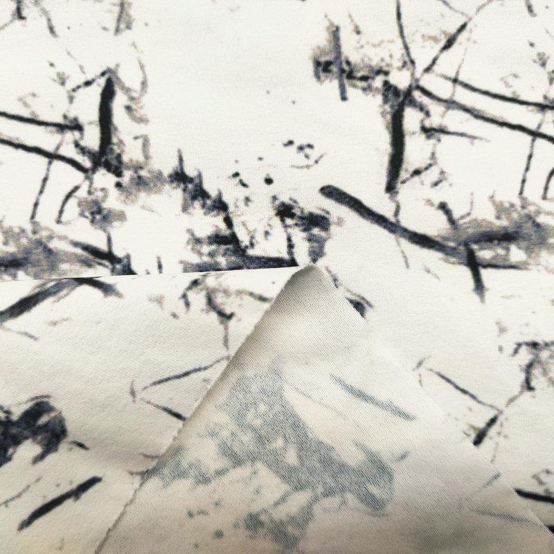 绒感仿棉环保无氨弹力布1#(光触媒抗菌吸排)-水墨