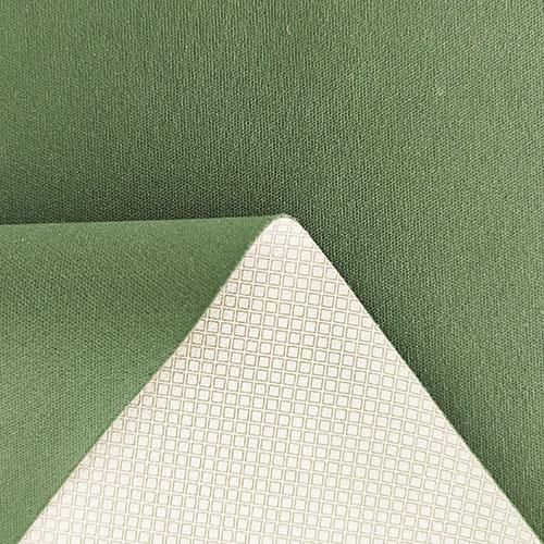 50D棉感无氨弹力双面布+PU彩膜灰色小格子